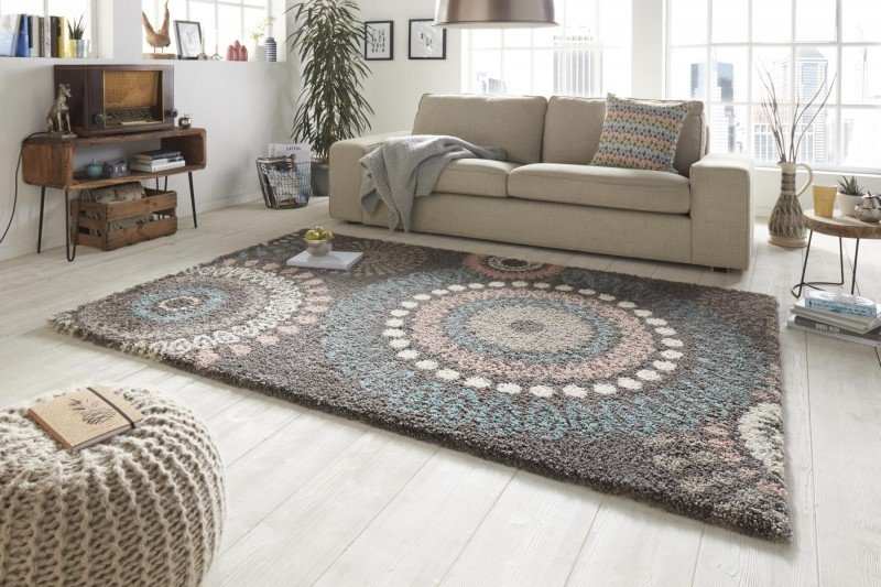 Šedý moderní kusový koberec Allure - délka 170 cm a šířka 120 cm