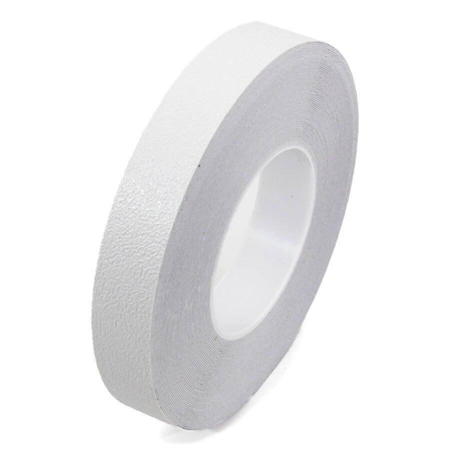 Bílá plastová voděodolná protiskluzová páska FLOMA Aqua-Safe - 18,3 x 2,5 cm tloušťka 0,7 mm