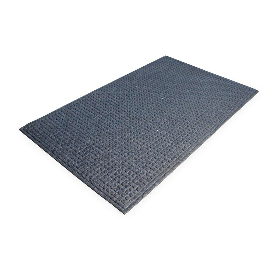 Modrá plastová vstupní vnitřní čistící rohož - délka 60 cm, šířka 90 cm a výška 1 cm
