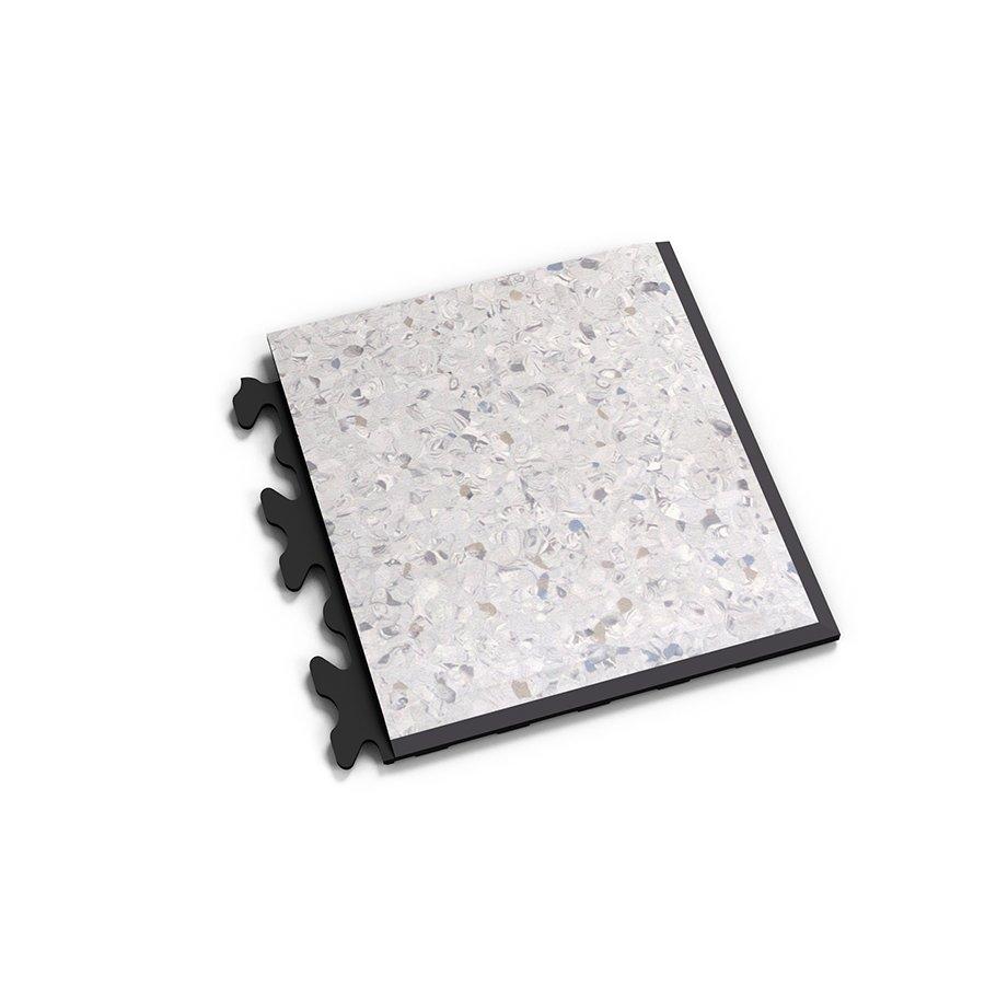 "Šedý plastový vinylový rohový nájezd ""typ D"" Solid Decor 2139, Fortelock - délka 14,5 cm, šířka 14,5 cm a výška 0,65 cm"