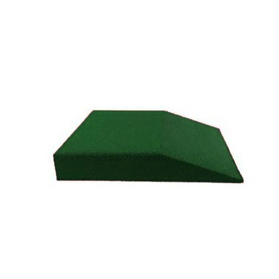 Zelená gumová krajová deska (V100/R00) - délka 50 cm, šířka 50 cm a výška 10 cm
