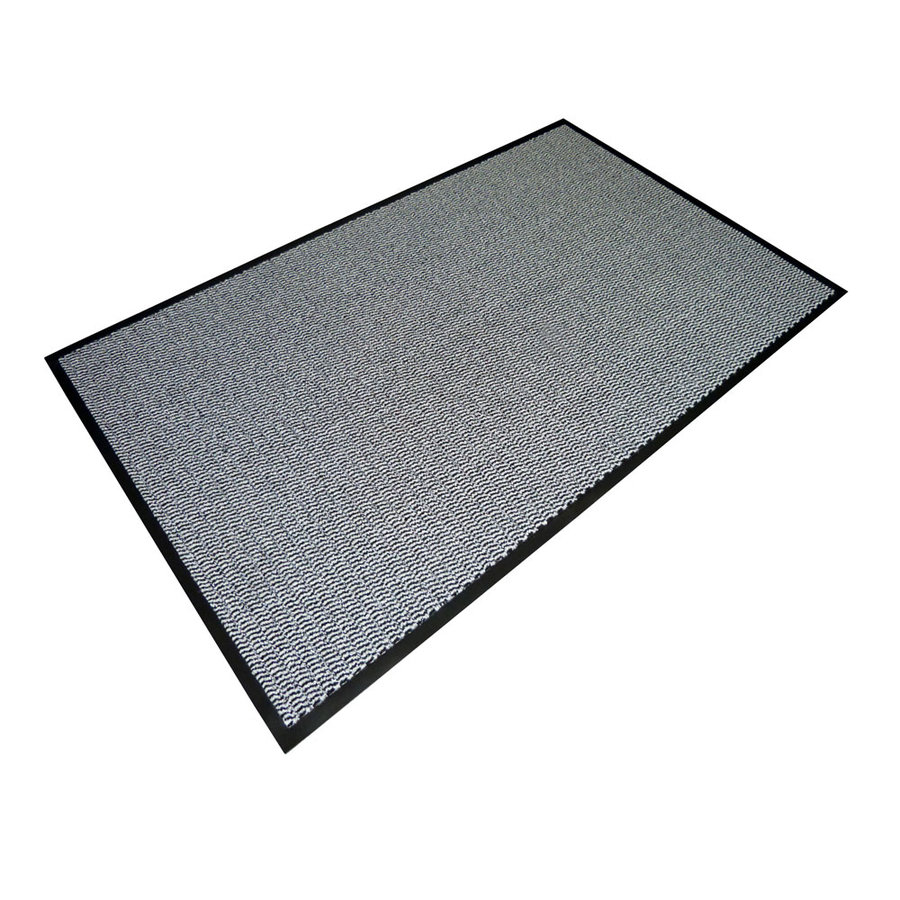 Šedá textilní vstupní vnitřní čistící rohož - délka 80 cm, šířka 120 cm a výška 0,7 cm