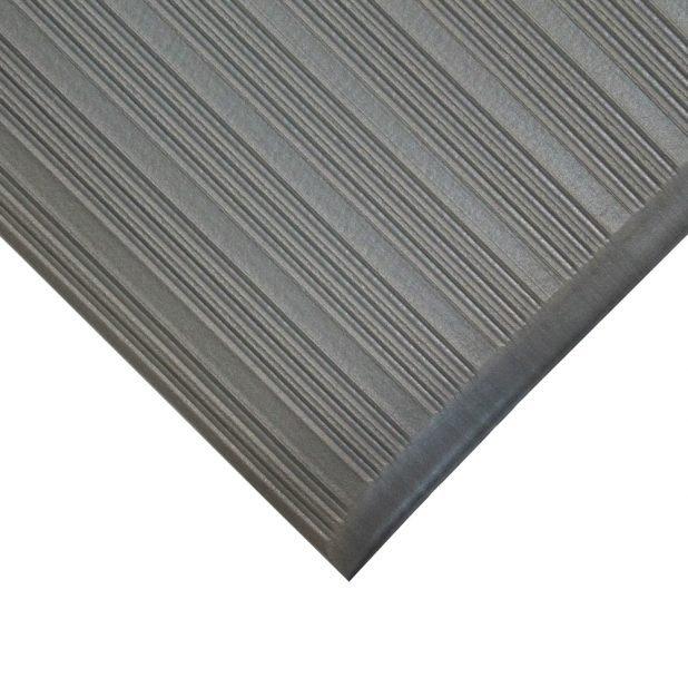 Šedá gumová protiskluzová protiúnavová průmyslová rohož - 90 x 60 x 0,9 cm (80000621)