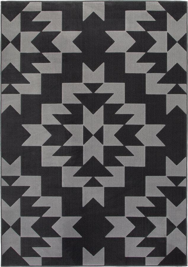 Šedý kusový moderní koberec Norik