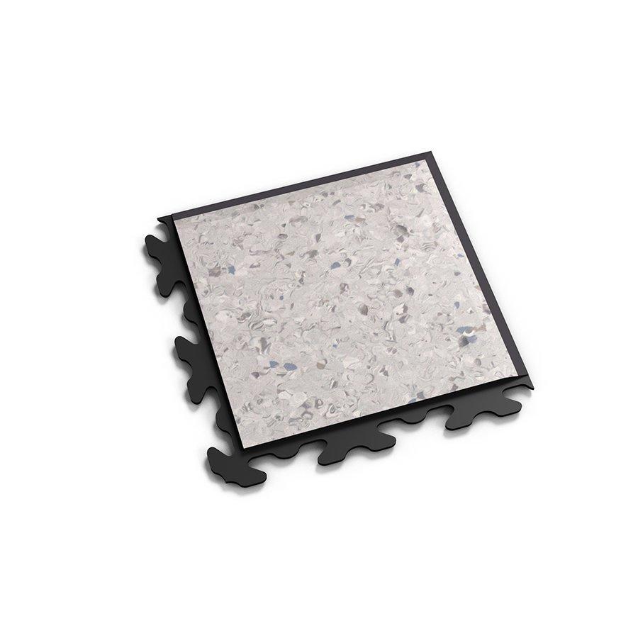 """Šedý plastový vinylový rohový nájezd """"typ B"""" Solid Decor 2137, Fortelock - délka 14,5 cm, šířka 14,5 cm a výška 0,65 cm"""