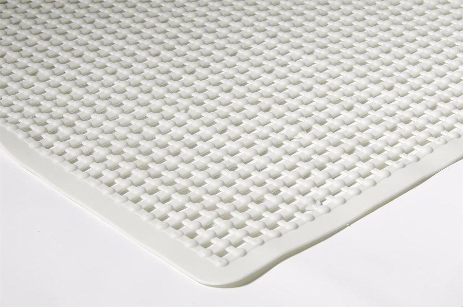 Bílá koupelnová protiskluzová sprchová rohož - délka 55 cm a šířka 55 cm