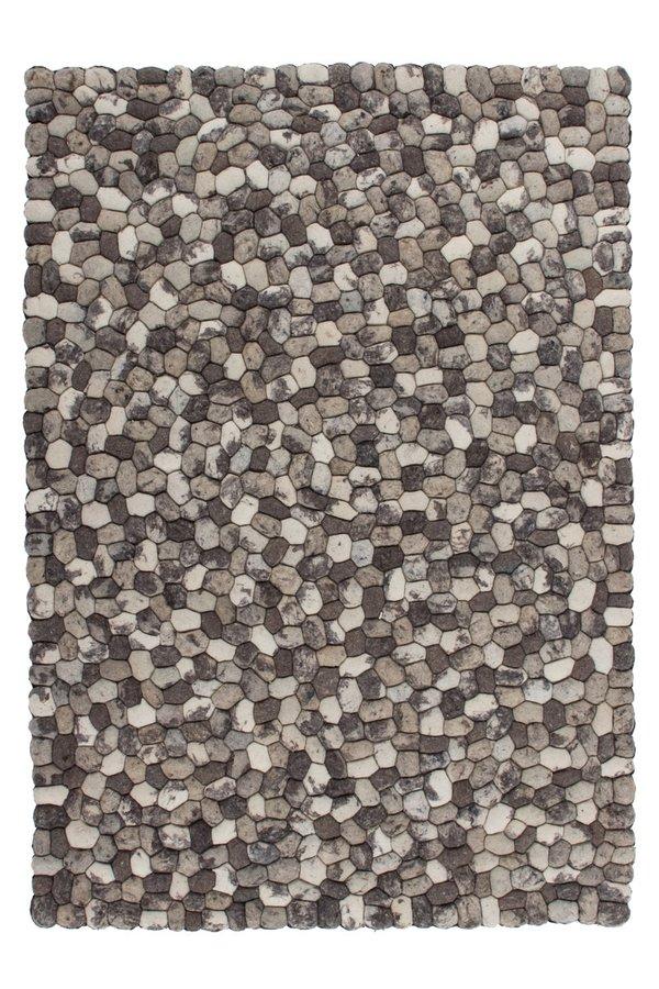 Šedý kusový koberec Stepstone - délka 150 cm a šířka 80 cm