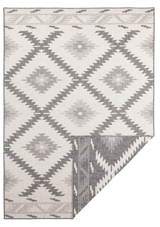 Šedý oboustranný moderní koberec Malibu, Twin-Supreme - délka 350 cm a šířka 80 cm