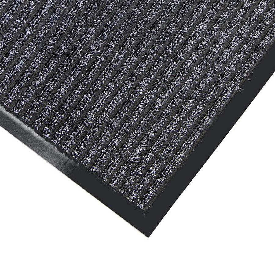 Černá textilní vstupní rohož Favorit - délka 40 cm, šířka 60 cm a výška 0,76 cm