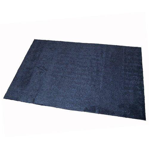 Antracitová bavlněná textilní pratelná vstupní vnitřní čistící rohož Natuflex - délka 150 cm, šířka 100 cm a výška 0,8 cm