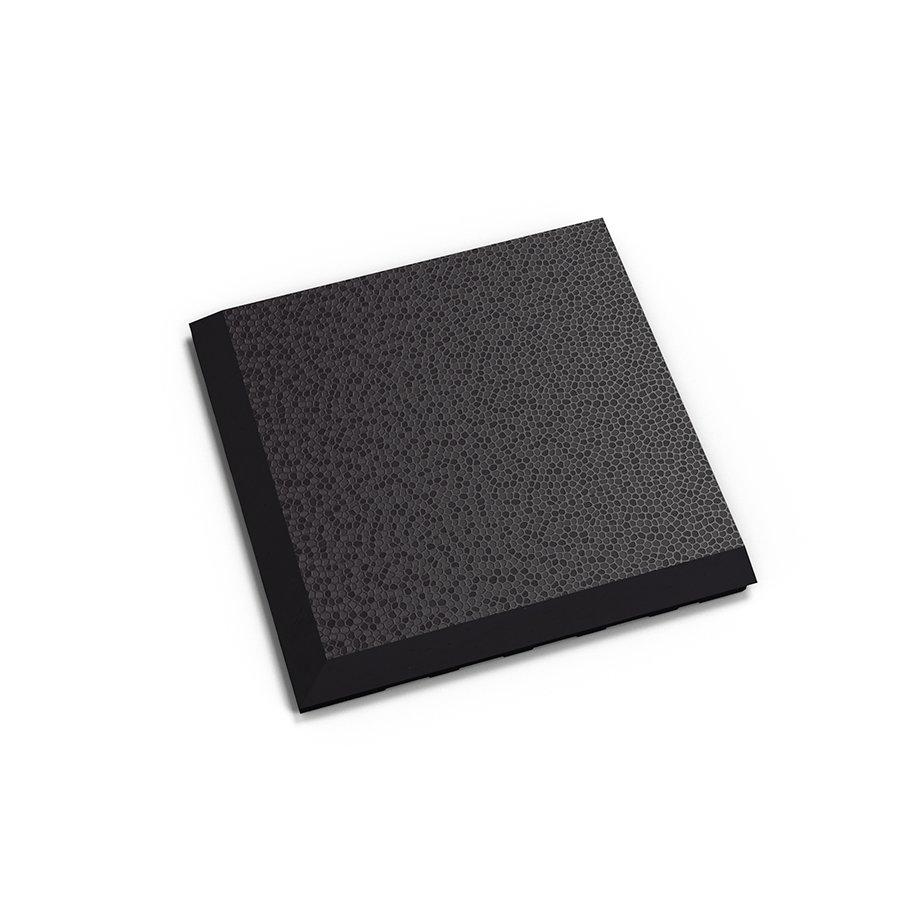 "Černý plastový vinylový rohový nájezd ""typ C"" Invisible Eco 2038 (hadí kůže), Fortelock - délka 14,5 cm, šířka 14,5 cm a výška 0,67 cm"