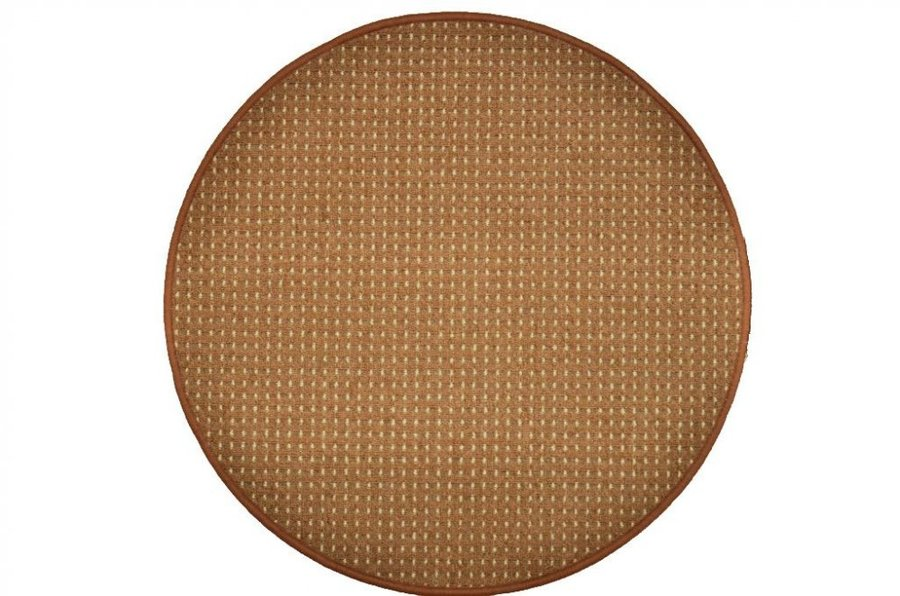 Hnědý kusový koberec Birmingham - průměr 400 cm
