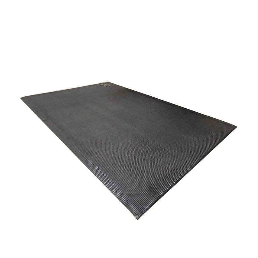 Černá olejivzdorná protiúnavová průmyslová rohož - délka 90 cm, šířka 60 cm a výška 1 cm