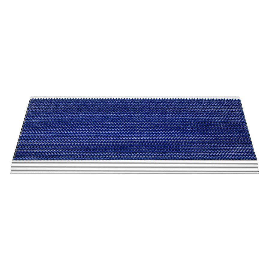 Modrá venkovní čistící kartáčová rohož Outline - 50 x 80 x 2,2 cm