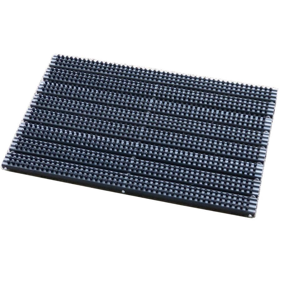 Plastová vstupní kartáčová čistící rohož pro zapuštění do podlahy - délka 38 cm, šířka 59 cm a výška 3 cm