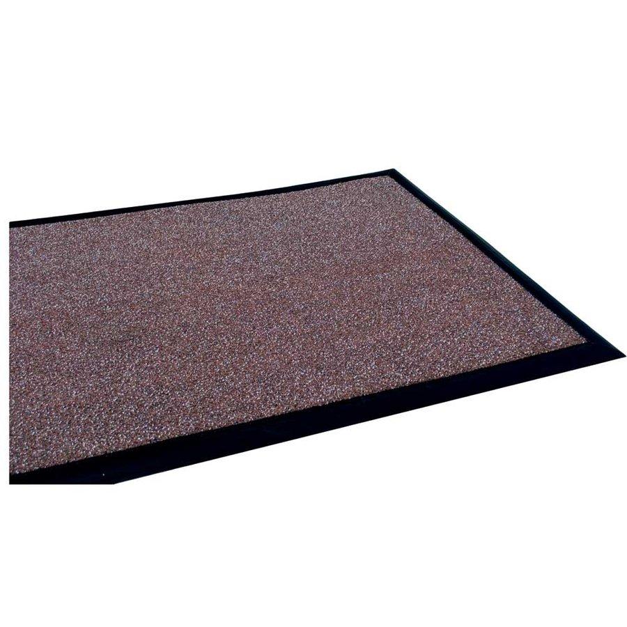 Hnědá textilní čistící vnitřní vstupní rohož - délka 100 cm, šířka 100 cm a výška 1,2 cm
