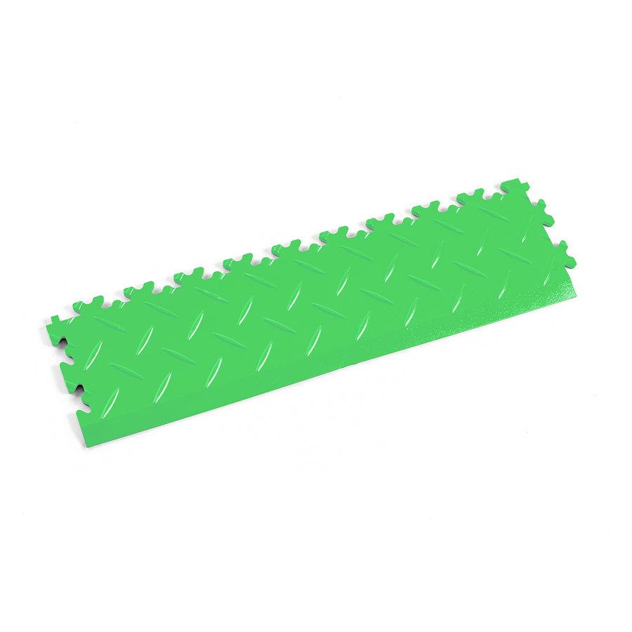 Zelený plastový vinylový nájezd 2015 (diamant), Fortelock - délka 51 cm, šířka 14 cm a výška 0,7 cm