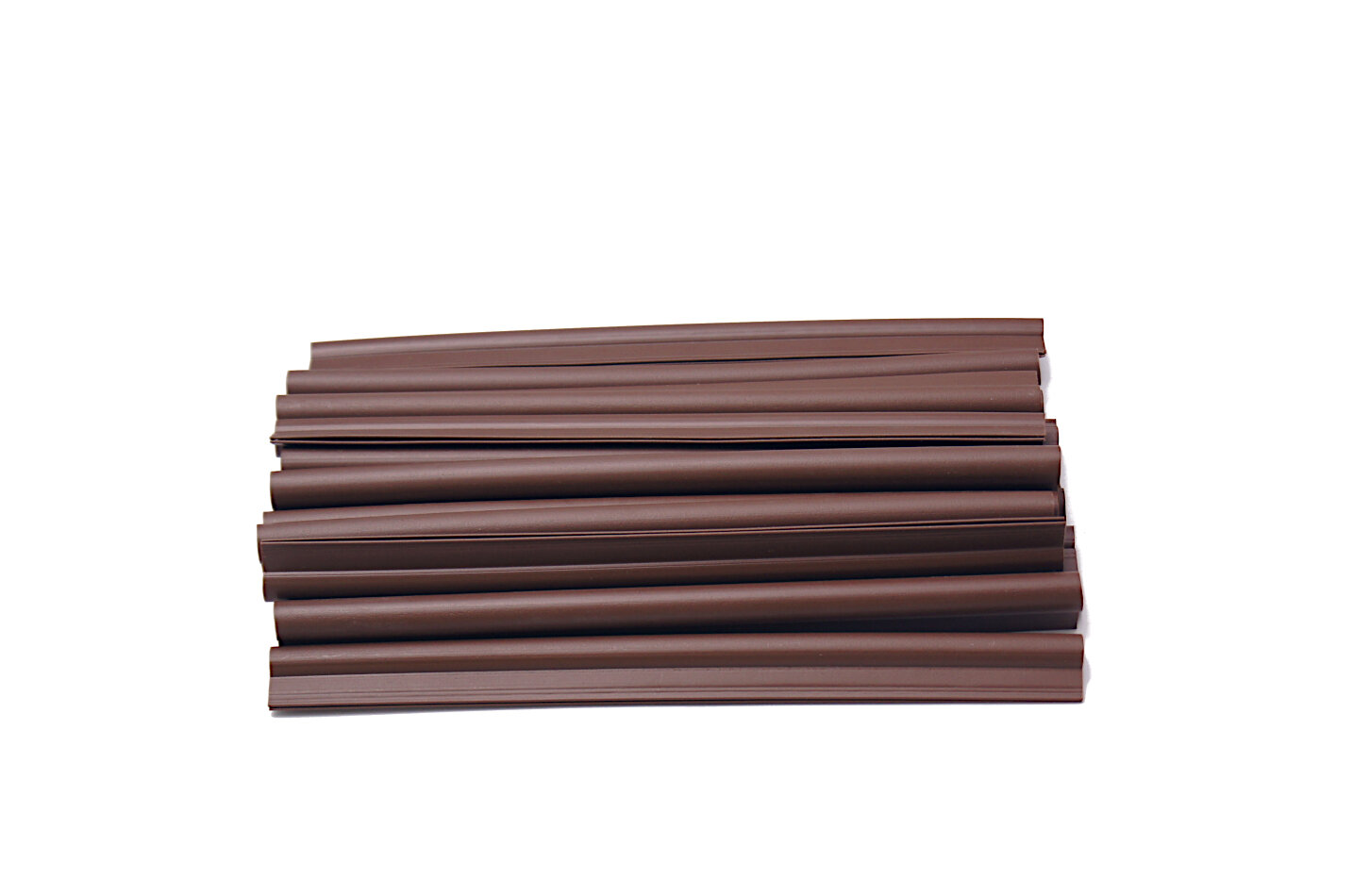 Plastový plotový úchyt (tmavý ořech) - délka 19 cm