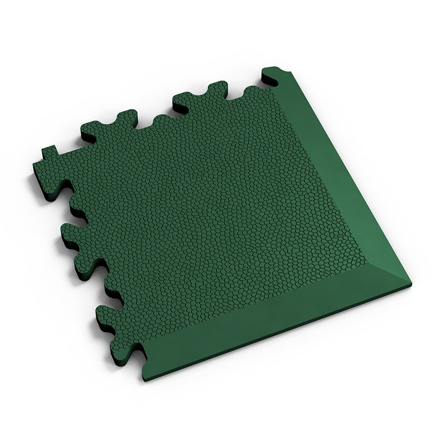 Zelený plastový vinylový rohový nájezd 2026 (kůže), Fortelock - délka 14 cm, šířka 14 cm a výška 0,7 cm