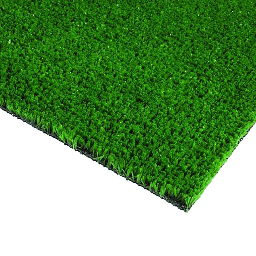 Zelená plastová vstupní čistící metrážová rohož FLOMA - šířka 200 cm a výška 0,9 cm