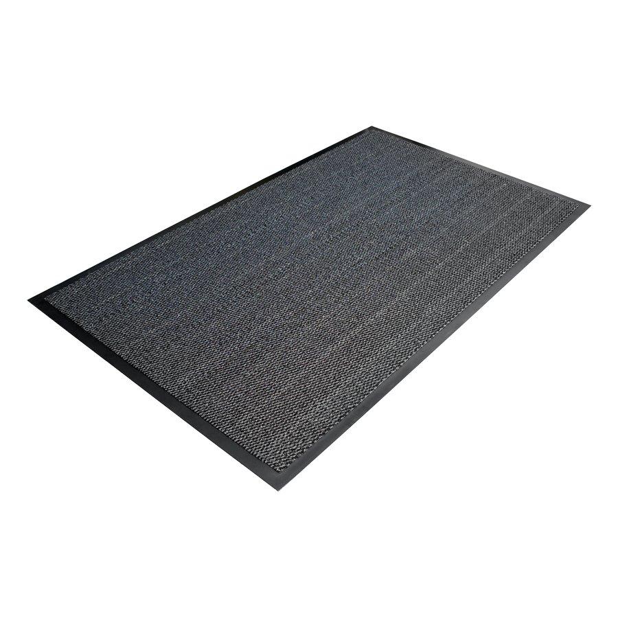 Šedá textilní metrážová čistící vnitřní vstupní rohož - výška 0,7 cm