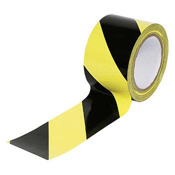 Černo-žlutá podlahová vyznačovací páska - délka 33 m a šířka 5 cm