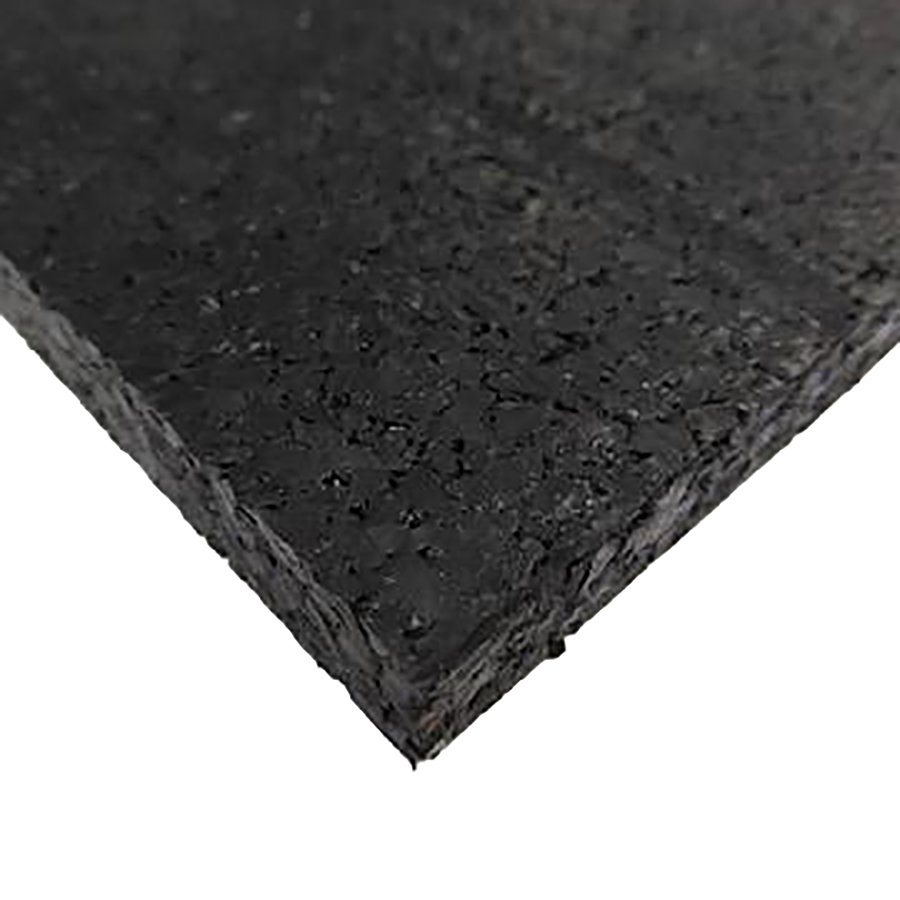 Černá pryžová fitness deska SF1050 - délka 198 cm, šířka 98 cm a výška 2 cm