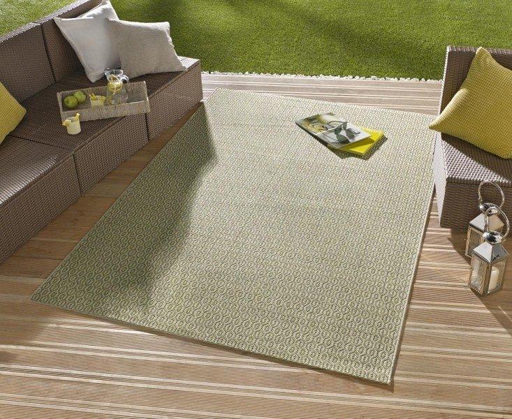 Zelený kusový koberec Meadow - délka 150 cm a šířka 80 cm