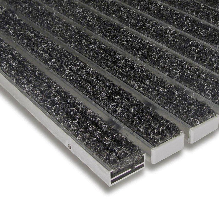 Textilní hliníková čistící vnitřní vstupní rohož Alu Standard, FLOMAT - délka 100 cm, šířka 100 cm a výška 1,7 cm
