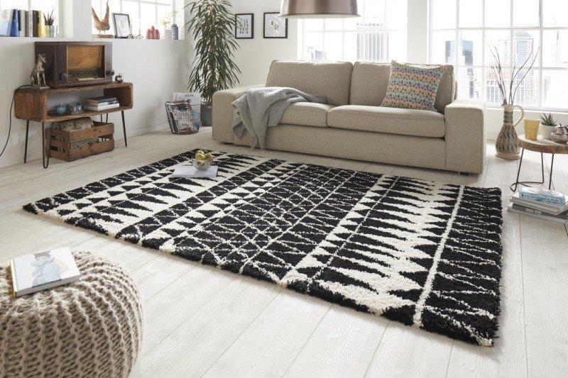 Černý moderní kusový koberec Allure - délka 150 cm a šířka 80 cm