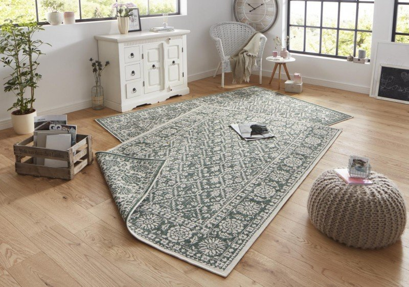 Zelený orientální koberec běhoun - délka 350 cm a šířka 80 cm