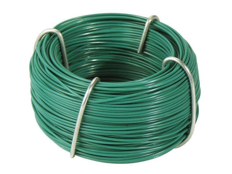 Zelený vázací drát s plastovým povrchem - délka 50 m