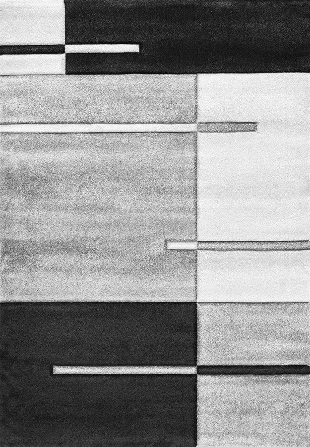 Šedý kusový koberec - délka 150 cm a šířka 80 cm