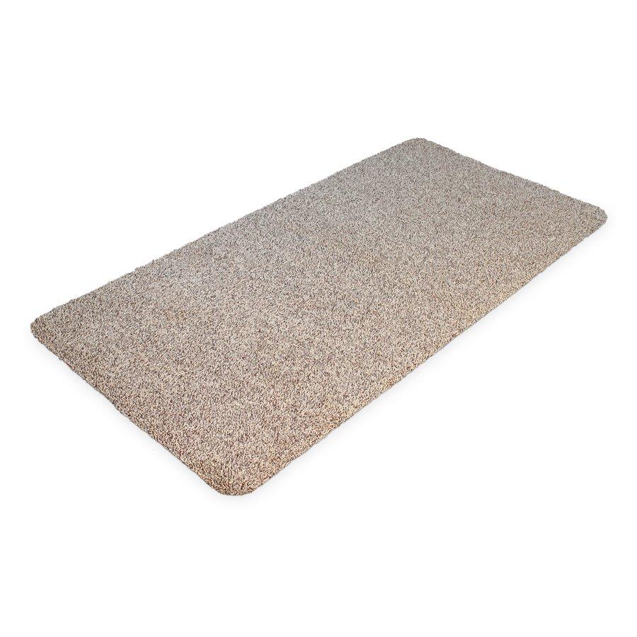 Béžová bavlněná čistící vnitřní vstupní rohož - délka 100 cm, šířka 75 cm a výška 0,4 cm