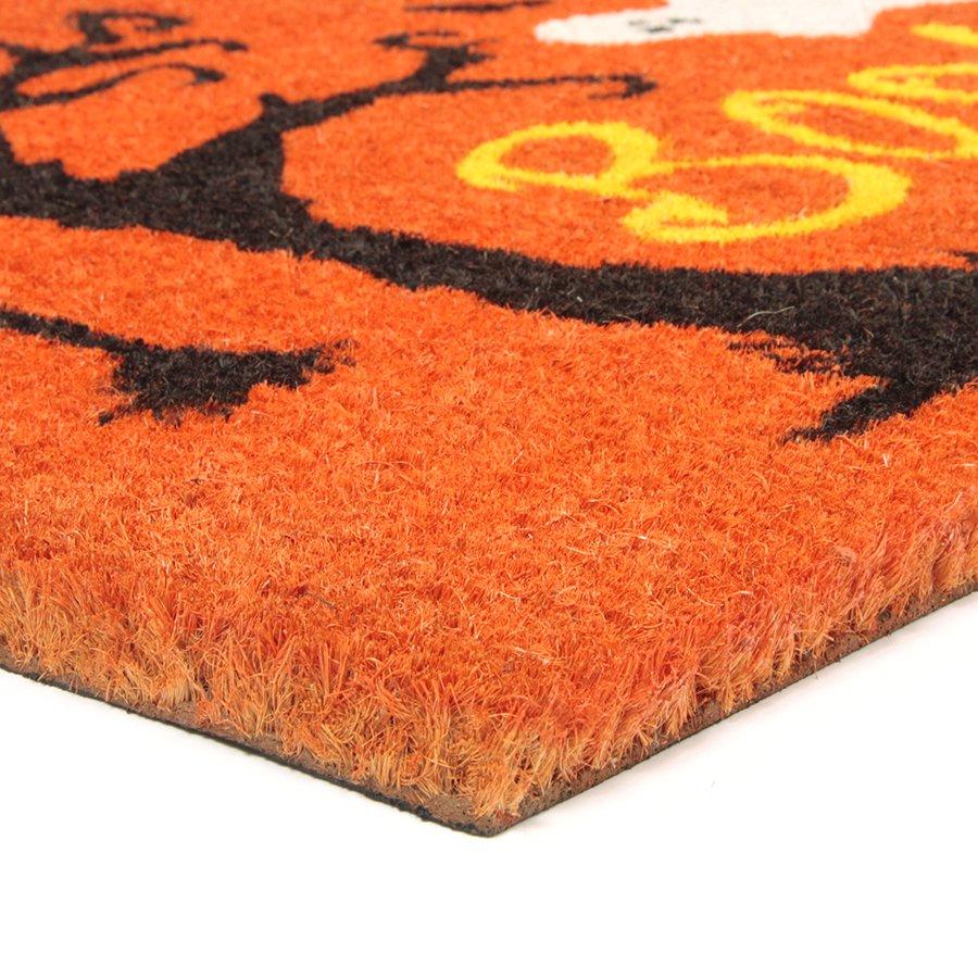 Kokosová vstupní venkovní čistící rohož Scary House, FLOMAT - délka 45 cm, šířka 75 cm a výška 1,7 cm