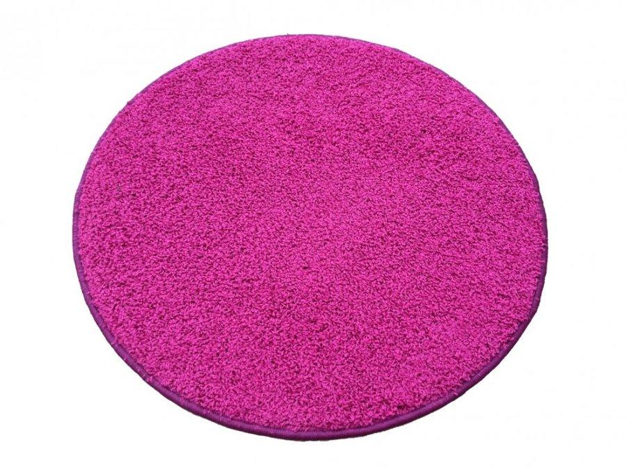 Růžový koberec Shaggy
