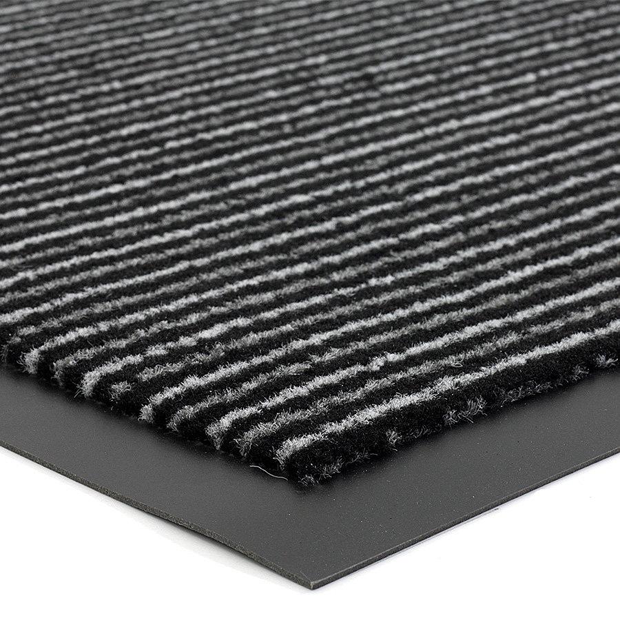 Antracitová vnitřní čistící vstupní rohož FLOMA Scala - délka 40 cm, šířka 60 cm a výška 0,5 cm