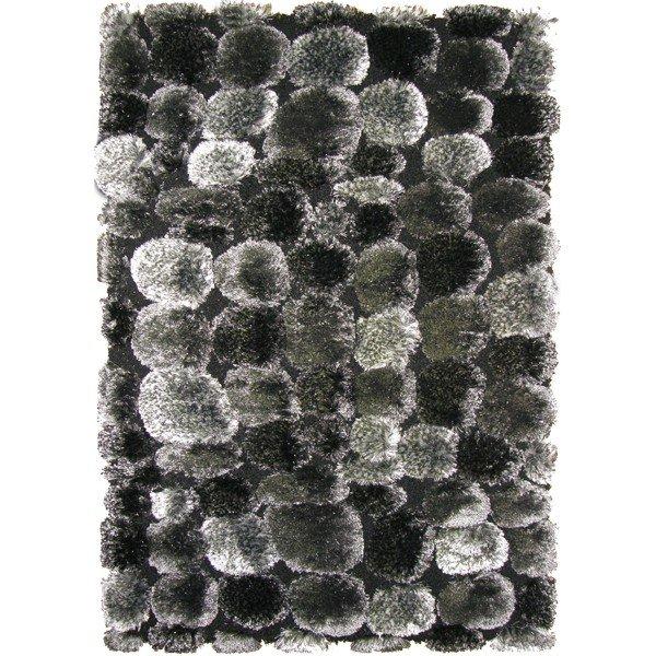 Černý kusový koberec Shaggy s vysokým vlasem