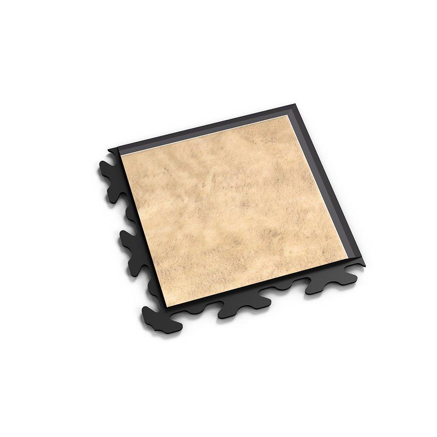 "Béžový plastový vinylový rohový nájezd ""typ B"" Business Decor 2127, Fortelock - délka 14,5 cm, šířka 14,5 cm a výška 0,65 cm"