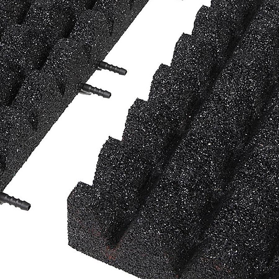 Černá gumová krajová deska (V80/R50) - délka 50 cm, šířka 25 cm a výška 8 cm