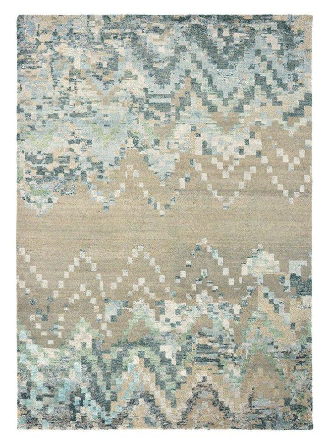Různobarevný kusový luxusní moderní koberec Yeti