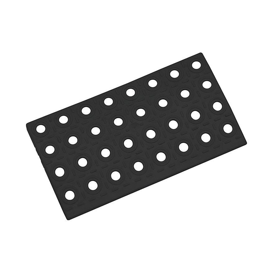 Černý plastový nájezd AT-HRD, AvaTile - 25 x 13,7 x 1,6 cm