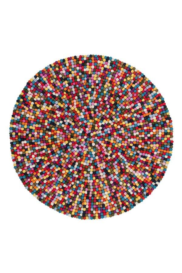 Různobarevný kusový moderní kulatý koberec Passion - průměr 120 cm