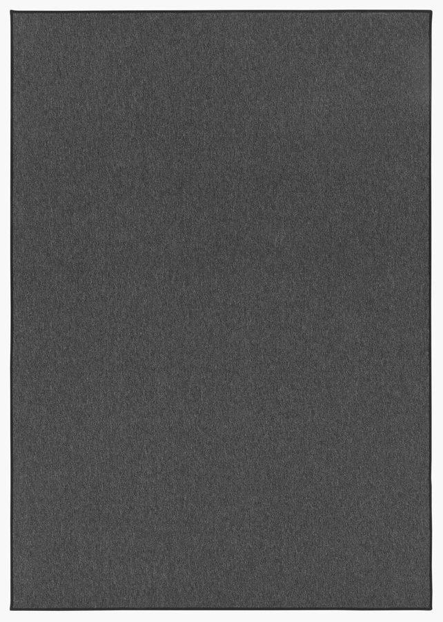 Antracitový kusový koberec Casual - šířka 80 cm