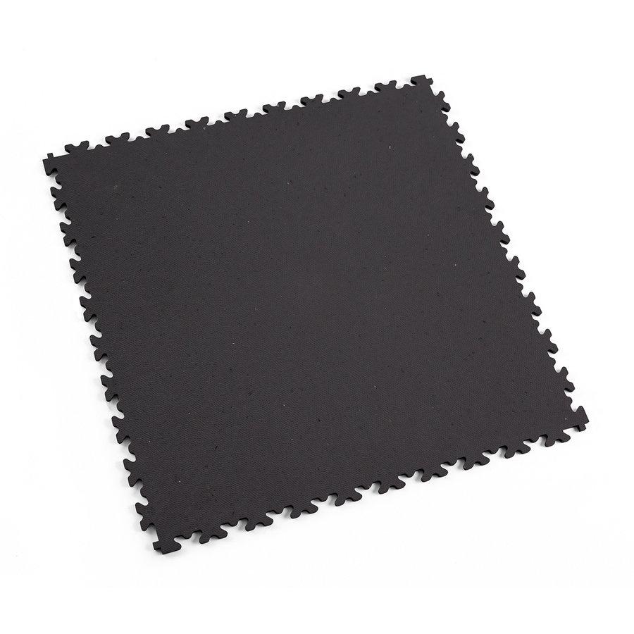 Šedá plastová vinylová zátěžová dlaždice Eco 2020 (kůže), Fortelock - délka 51 cm, šířka 51 cm a výška 0,7 cm