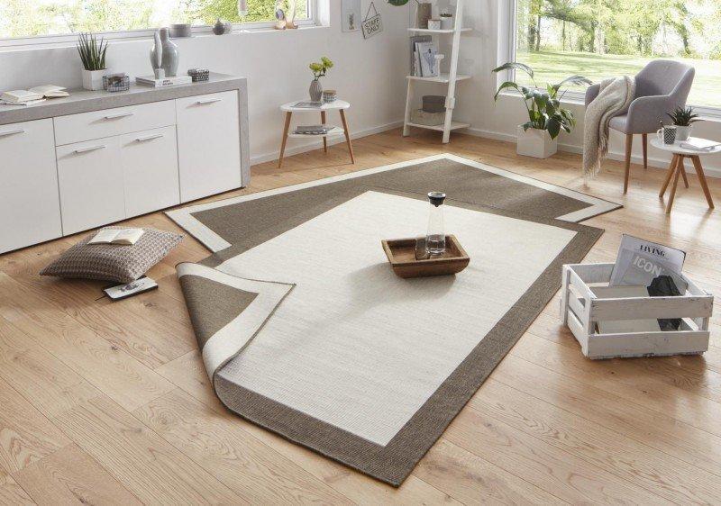 Béžovo-hnědý kusový oboustranný koberec Twin-Wendeteppiche