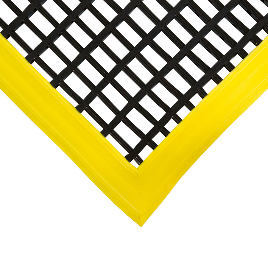 Černá univerzální průmyslová protiskluzová olejivzdorná rohož (mřížka 22 x 10 mm) - délka 180 cm, šířka 120 cm a výška 1,2 cm