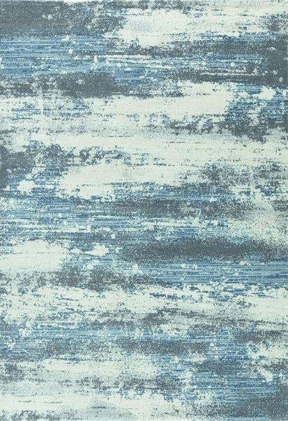 Modro-šedý kusový moderní koberec Piazzo