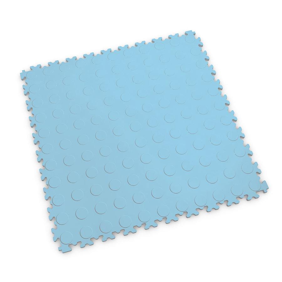 Modrá plastová vinylová zátěžová dlaždice Industry 2040 (penízky), Fortelock - délka 51 cm, šířka 51 cm a výška 0,7 cm