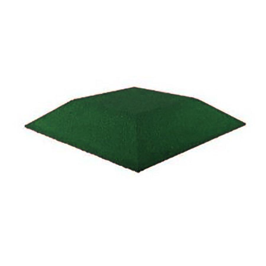Zelená gumová krajová deska (roh) (V90/R00) - délka 50 cm, šířka 50 cm a výška 9 cm